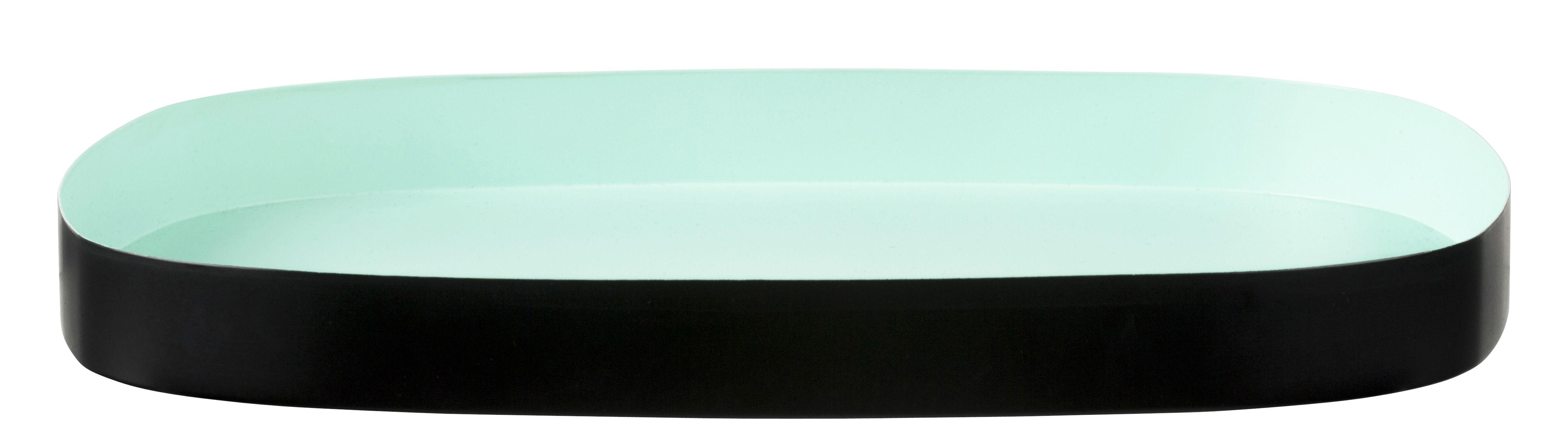 plateau television large 33 x 29 cm vert menthe noir design letters. Black Bedroom Furniture Sets. Home Design Ideas
