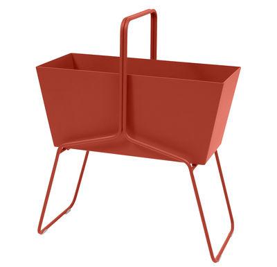 Foto Fioriera Basket alta / L 70 x H 84 cm - Fermob - Paprika - Metallo