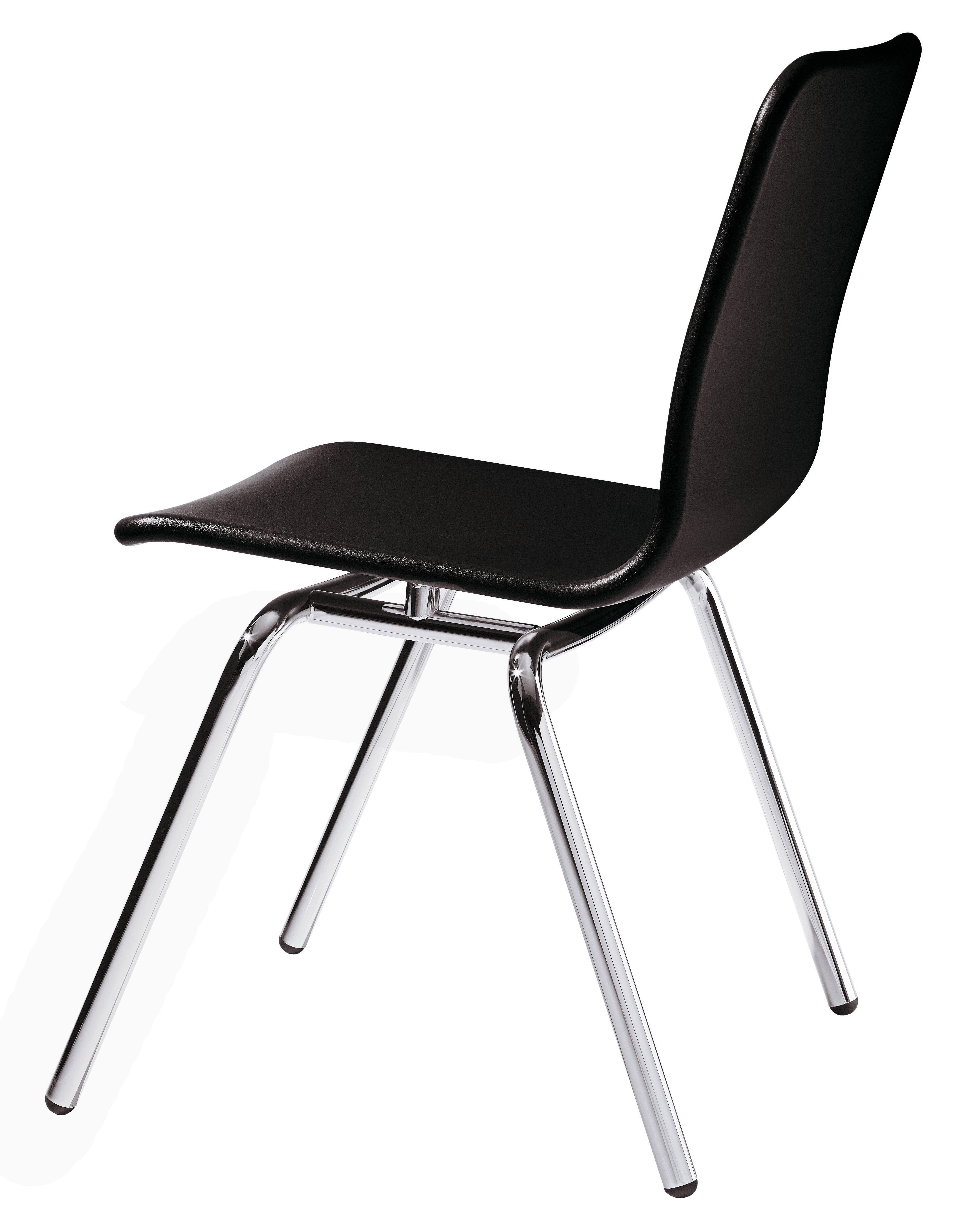 soho stackable chair plastic metal legs black by magis