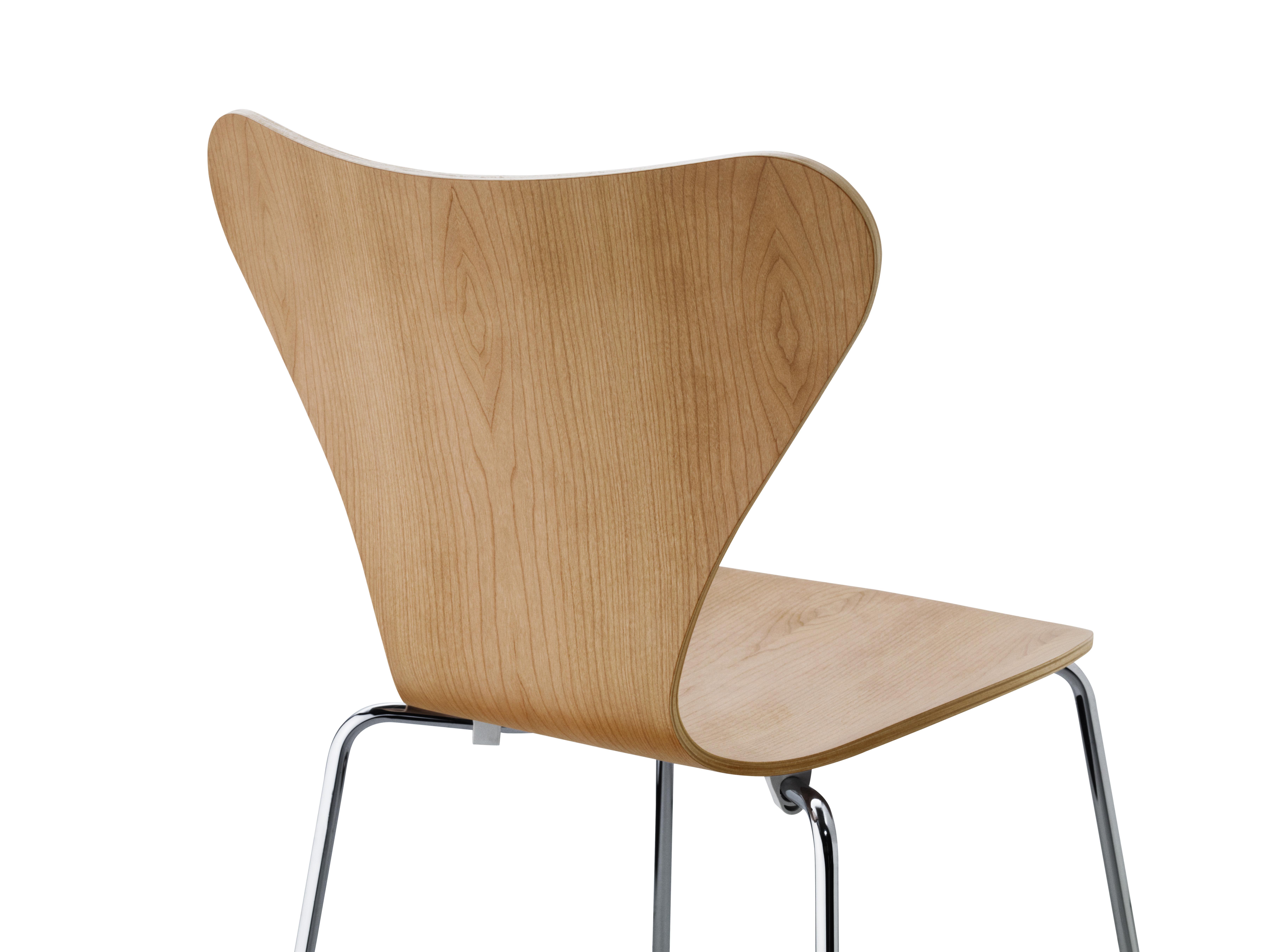 chaise empilable s rie 7 bois naturel cerisier fritz hansen. Black Bedroom Furniture Sets. Home Design Ideas