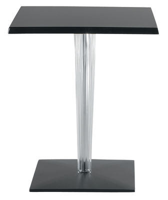 Foto tavolo da giardino TopTop - Dr. YES - Piano quadrato 60x60 cm di Kartell - Nero - Materiale plastico