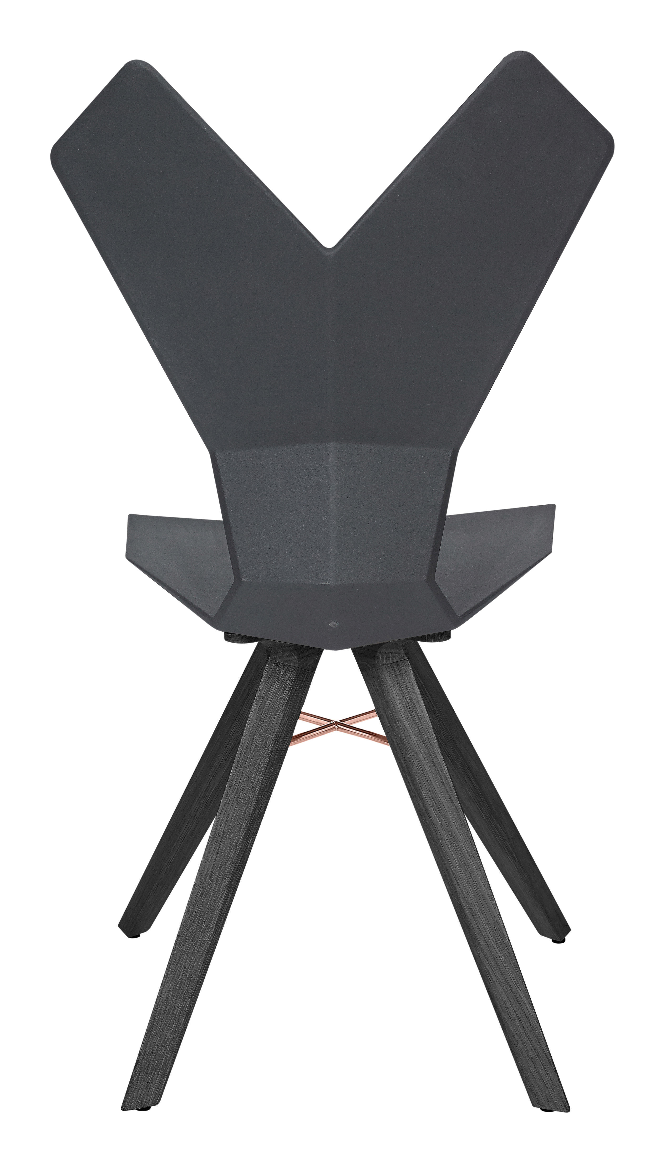 chaise y assise plastique pieds bois coque noire pi tement bois teint noir tom dixon. Black Bedroom Furniture Sets. Home Design Ideas