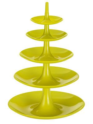 Foto Portafrutta Babell XXL - / Ø 38 cm x H 53 cm di Koziol - Verde senape opaco - Materiale plastico