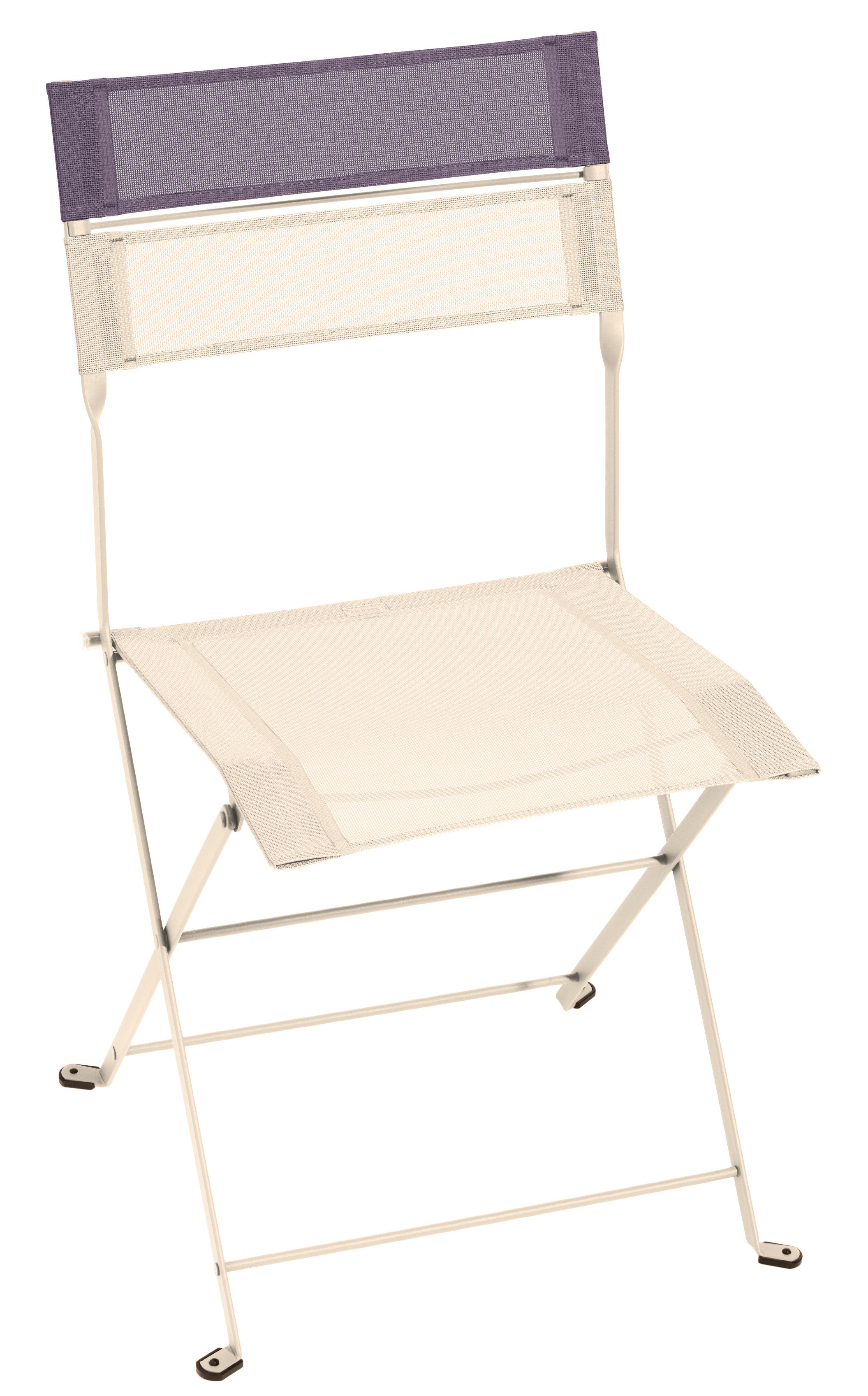 Chaise pliante latitude toile lin bandeau prune fermob - Chaise pliante toile ...