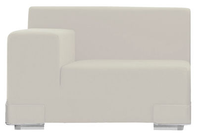 Divano modulabile Plastics - Bracciolo destro di Kartell - Bianco - Materiale plastico