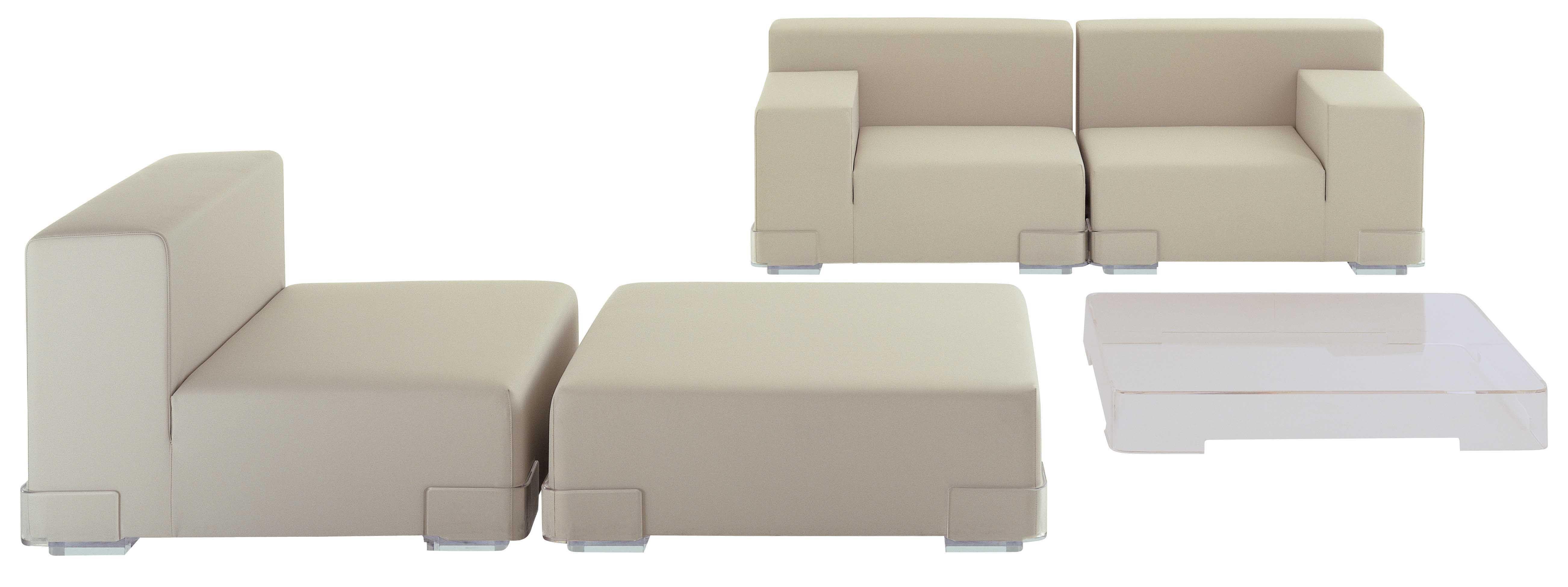 canap modulable plastics module accoudoir droite l 90 cm anthracite kartell. Black Bedroom Furniture Sets. Home Design Ideas