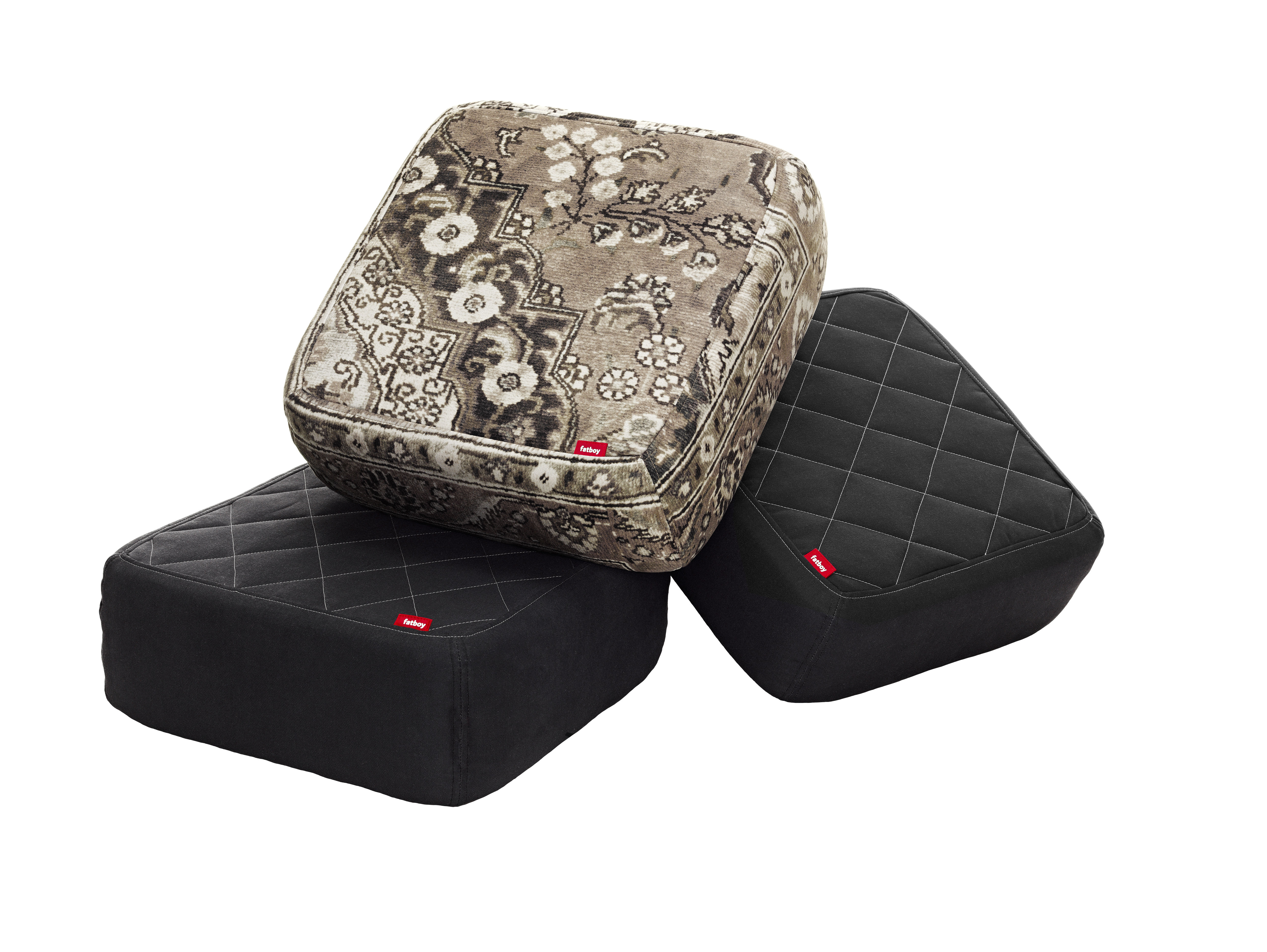 baboesjka pouf set 3 floor cushions taupe persian black by fatboy. Black Bedroom Furniture Sets. Home Design Ideas