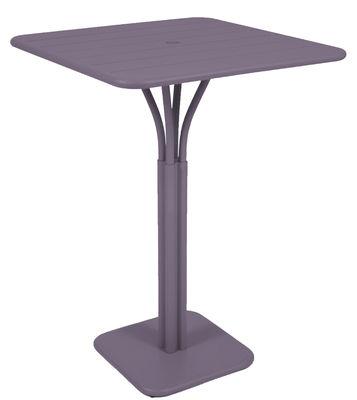 Foto Tavolo alto per mangiare in piedi Luxembourg / 80 x 80 x H 105 cm - Prugna - Metallo Fermob Tavolo bar alto