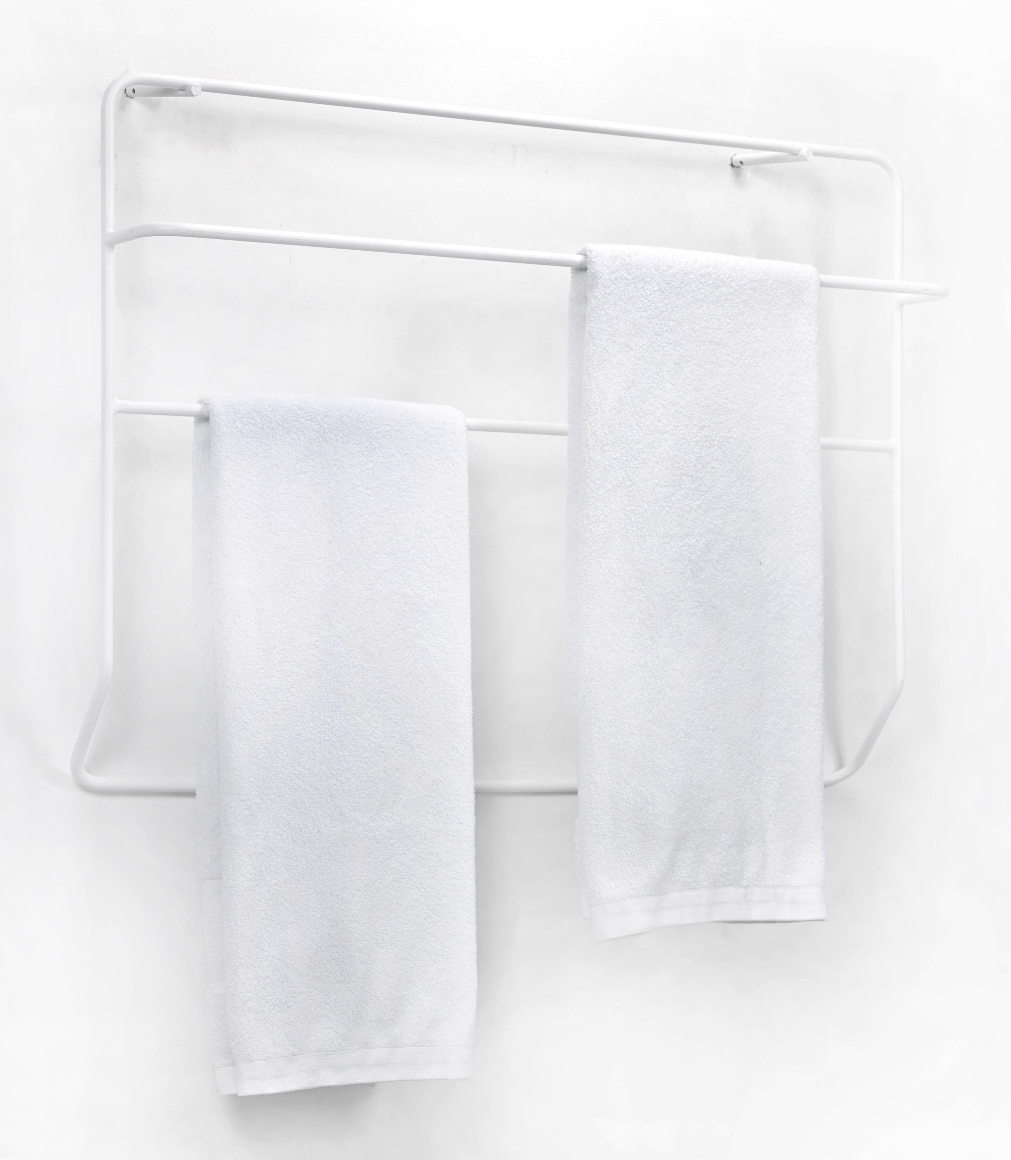 Porte serviettes juno mural m tal l 90 x h 60 cm for Porte serviette mural 60 cm