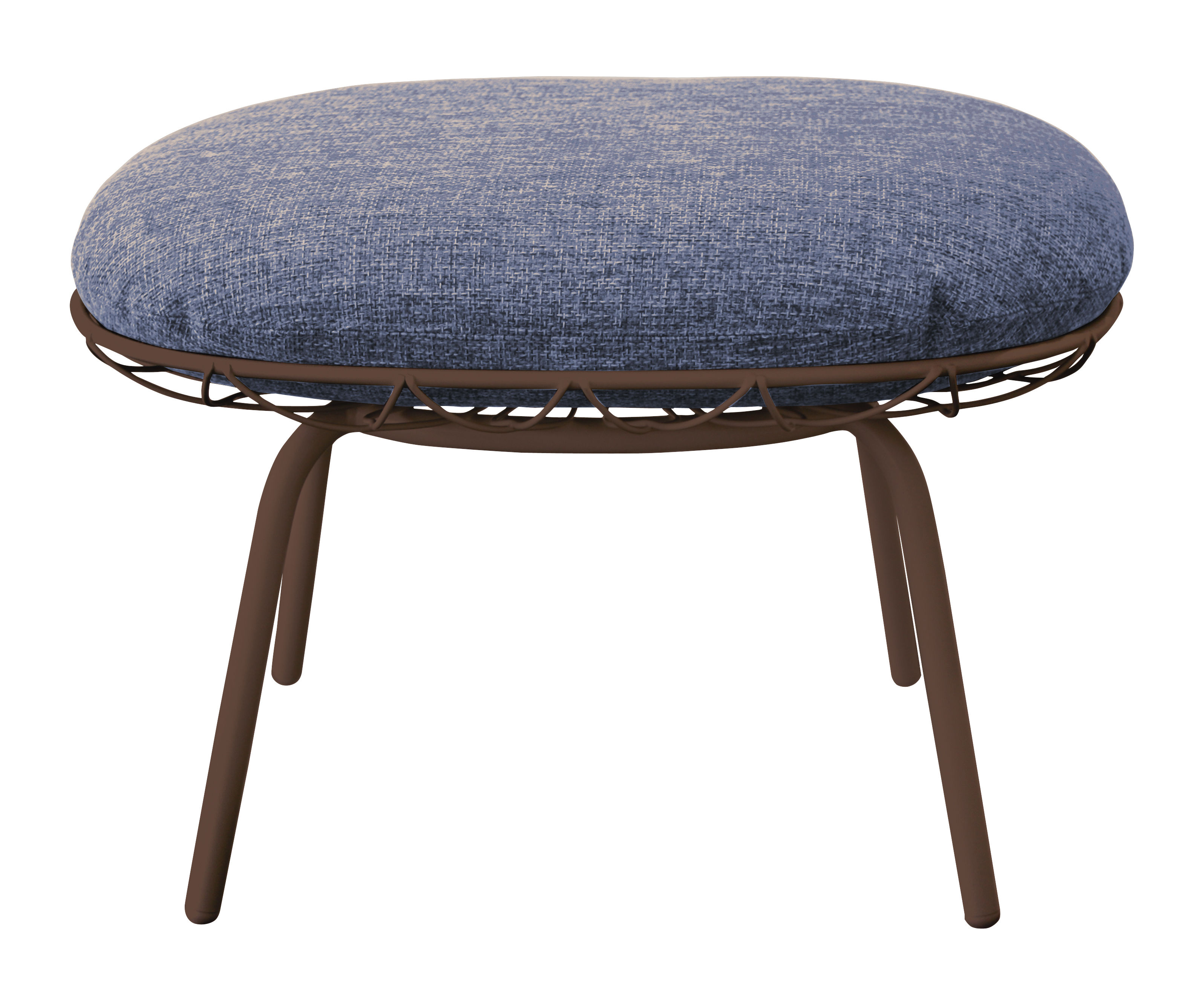 pouf pina outdoor repose pieds tissu structure marron coussin marron bleu magis. Black Bedroom Furniture Sets. Home Design Ideas