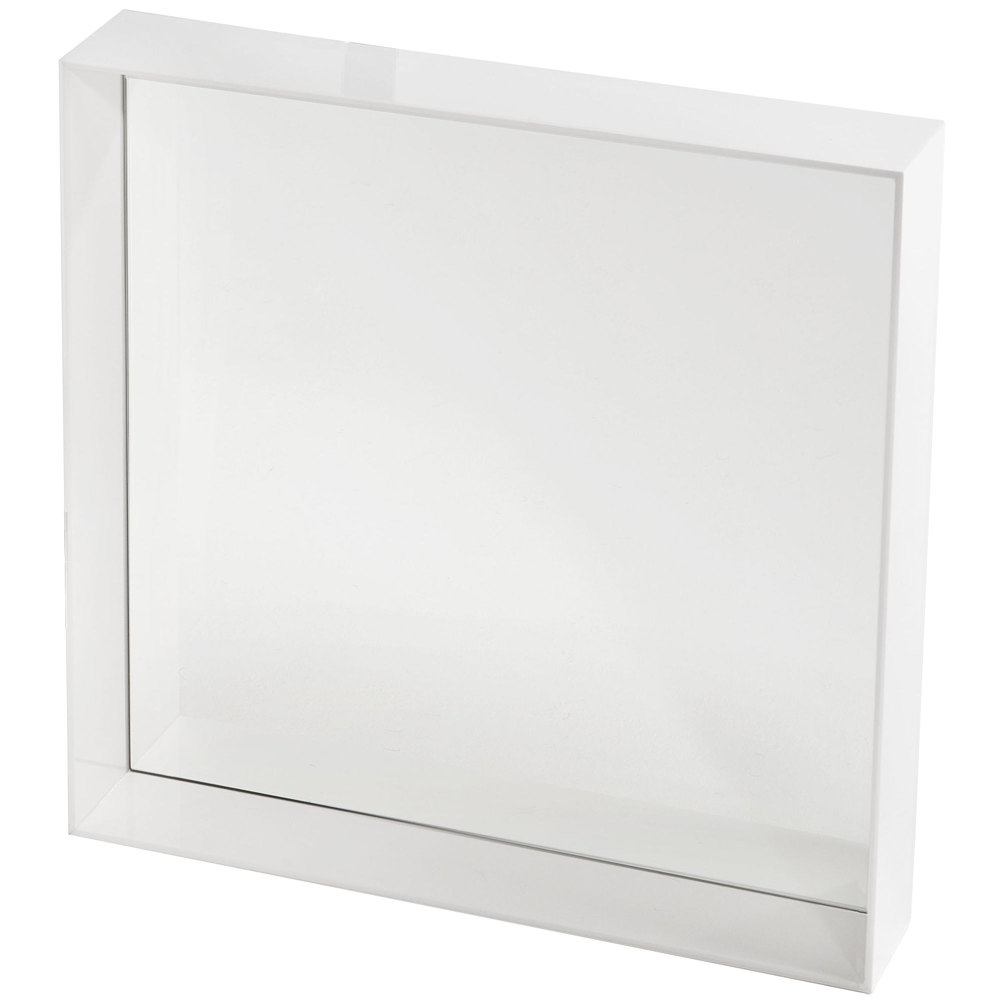 Miroir only me l 50 x h 50 cm blanc brillant kartell for Miroir 50 50