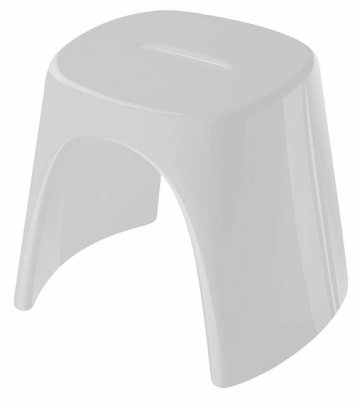 tabouret empilable am lie laqu plastique laqu blanc slide. Black Bedroom Furniture Sets. Home Design Ideas