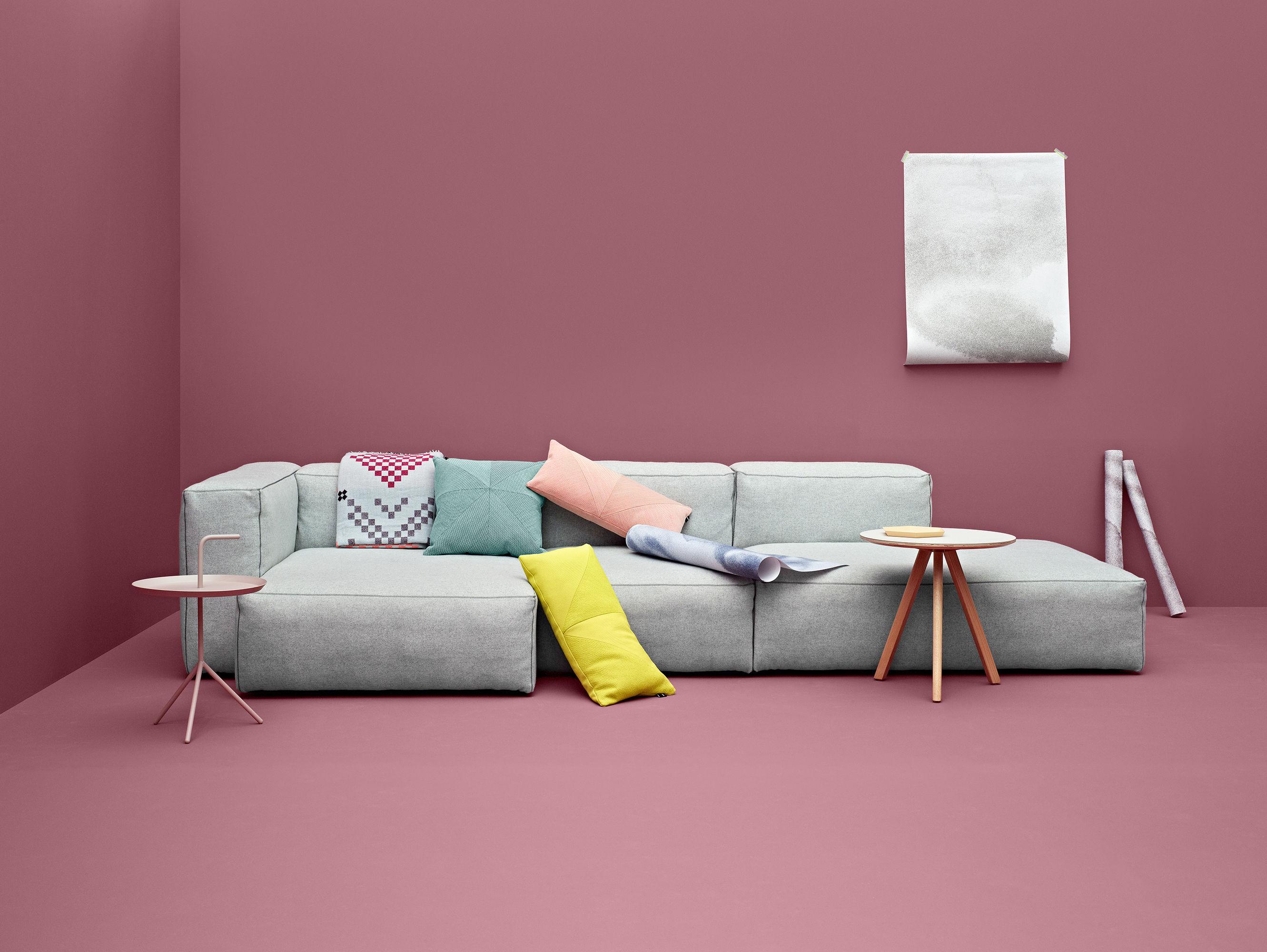 canap d 39 angle soft mags l 302 cm accoudoir gauche gris clair tissu divina hay. Black Bedroom Furniture Sets. Home Design Ideas