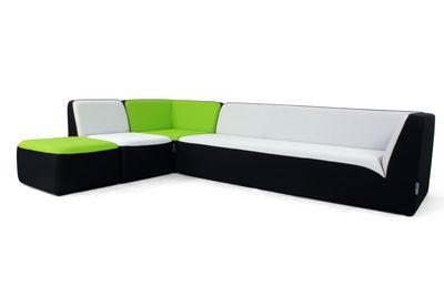 canap droit e motion by ora ito 3 places l 189 cm noir violet passepoil noir mat. Black Bedroom Furniture Sets. Home Design Ideas