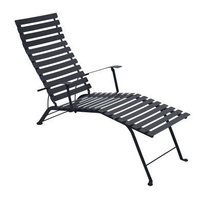 Foto Sedia a sdraio Bistro - Fermob - Carbone - Metallo Chaise longue