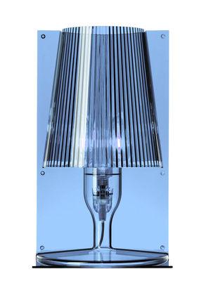 Foto Lampada da tavolo Take - Kartell - Blu grigio - Materiale plastico