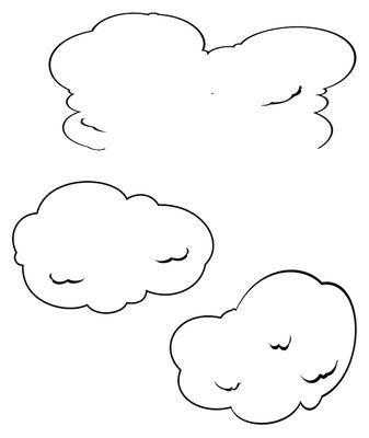 Foto Sticker Ceiling clouds di Domestic - Nero - Materiale plastico
