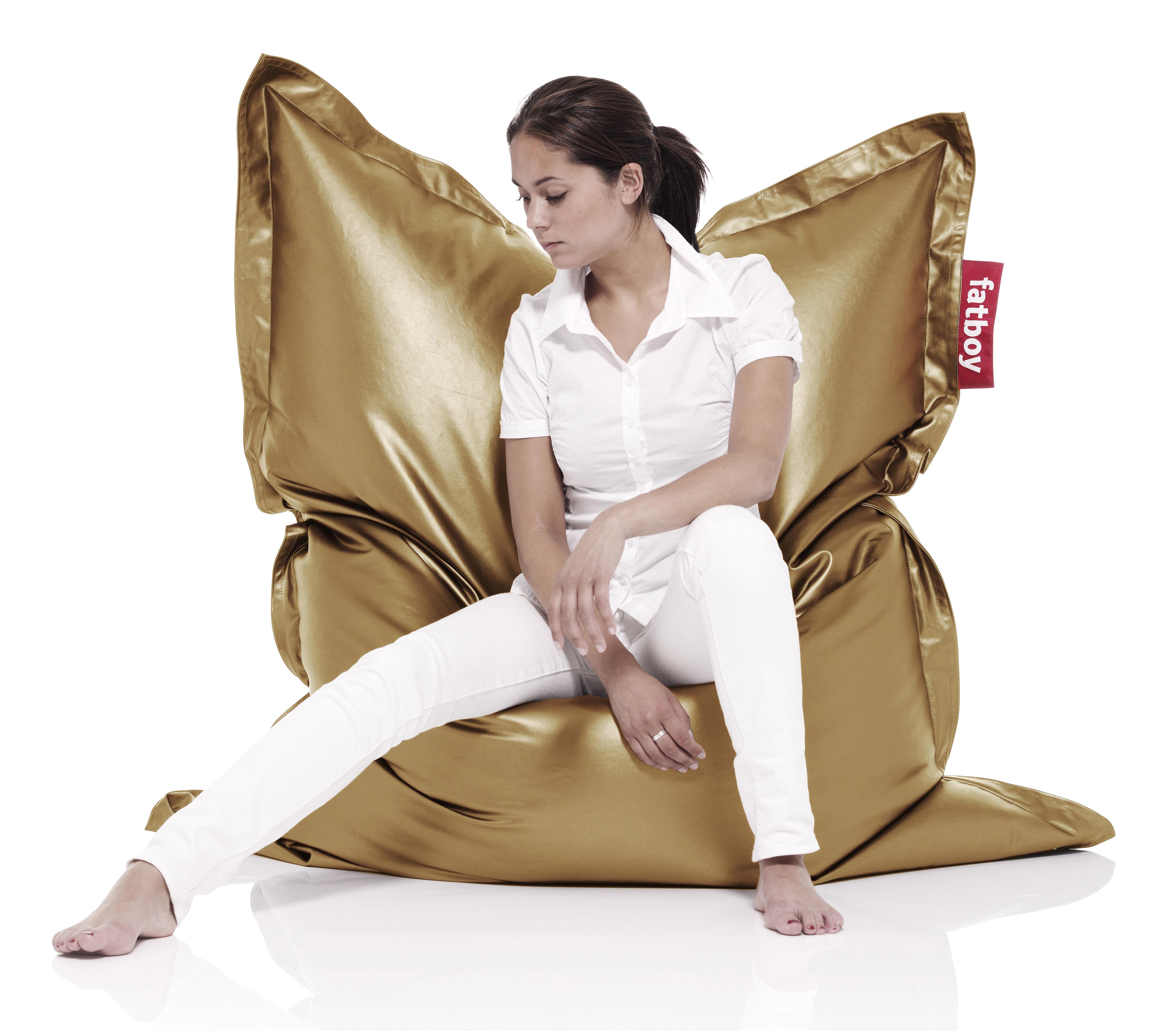 m tahlowski goldi pouf goldi gold by fatboy. Black Bedroom Furniture Sets. Home Design Ideas
