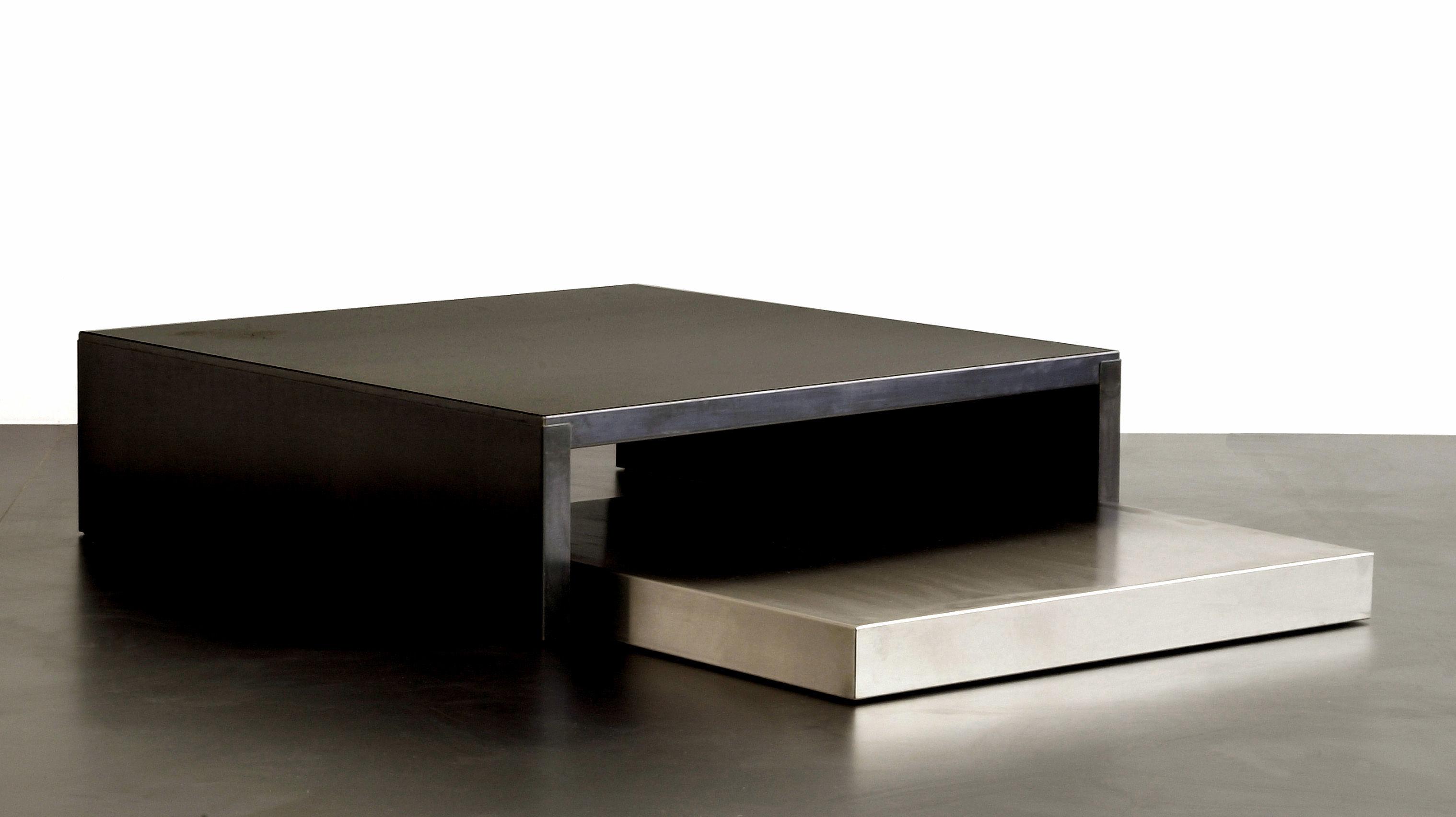 Table basse max moritz acier phosphat noir acier for Table basse 100x100