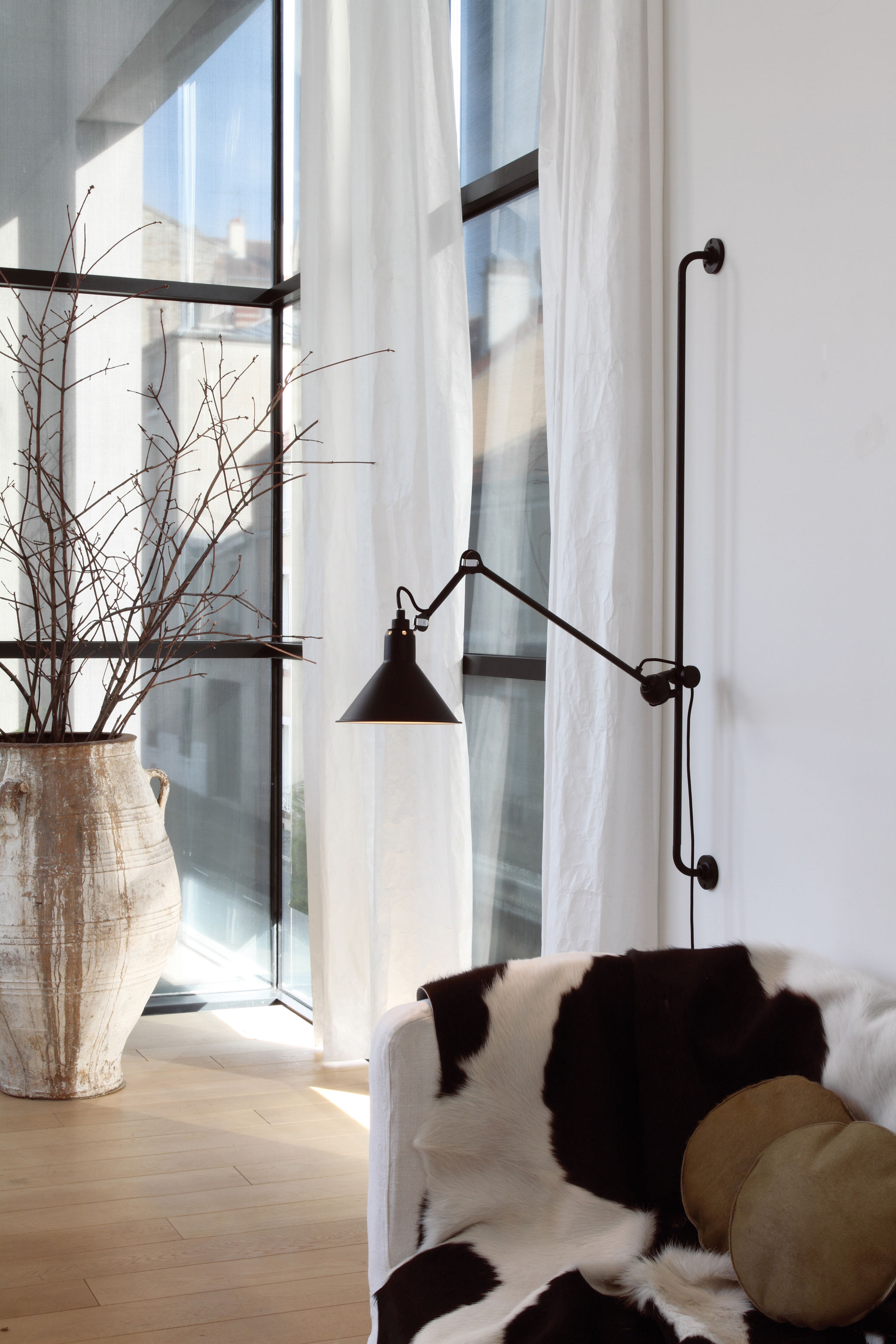 N 214 wall light black satin by dcw ditions - Dcw edities ...