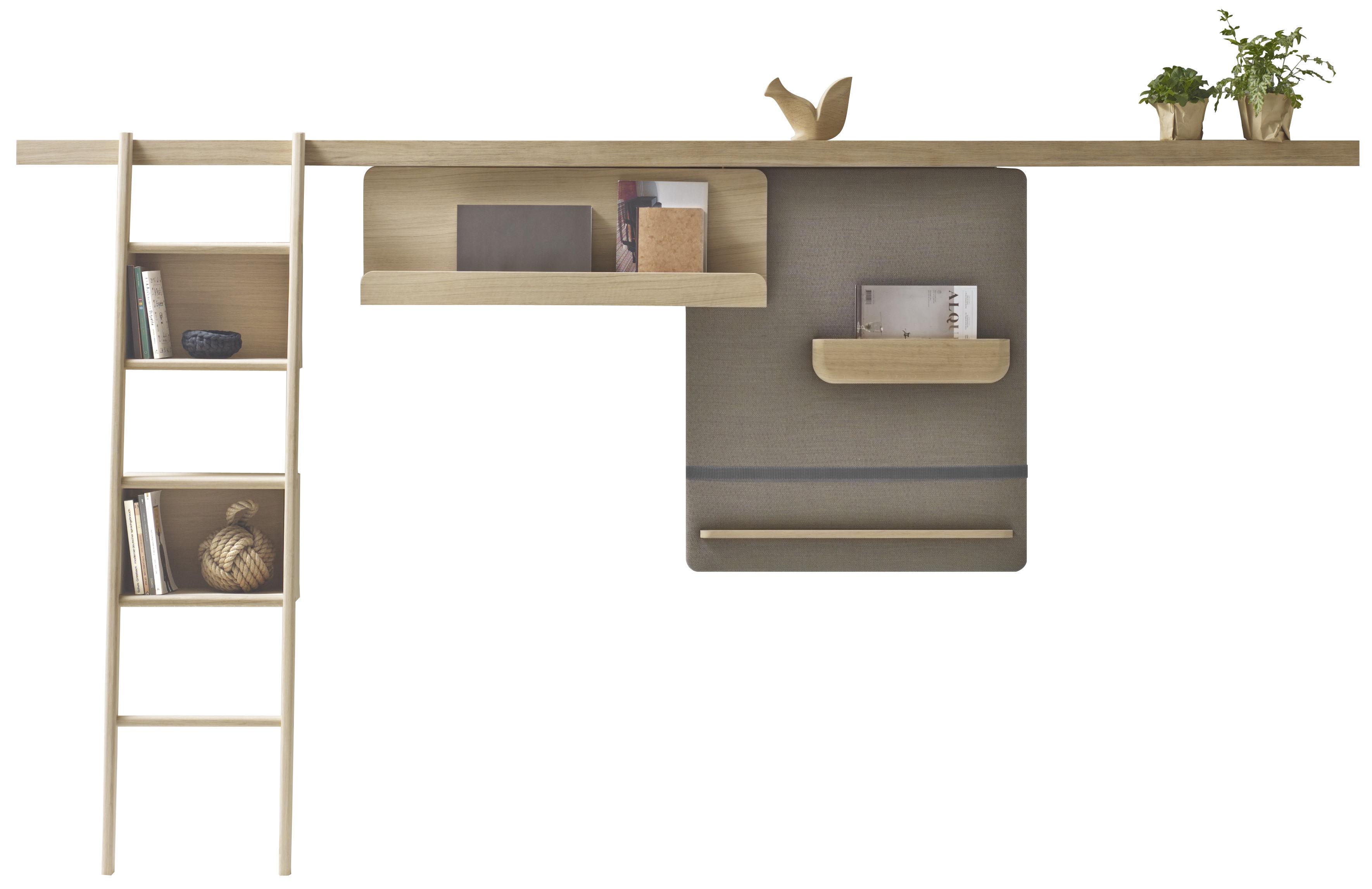 rangement mural zutik 3 accessoires modulables l 300 cm bois marron chin alki. Black Bedroom Furniture Sets. Home Design Ideas