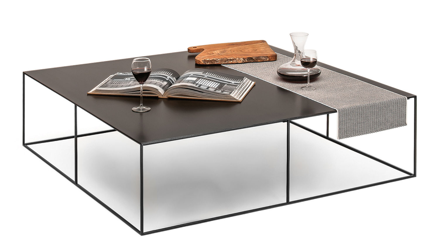 Slim Irony Coffee Table 124 X 124 Cm Black Copper By Zeus