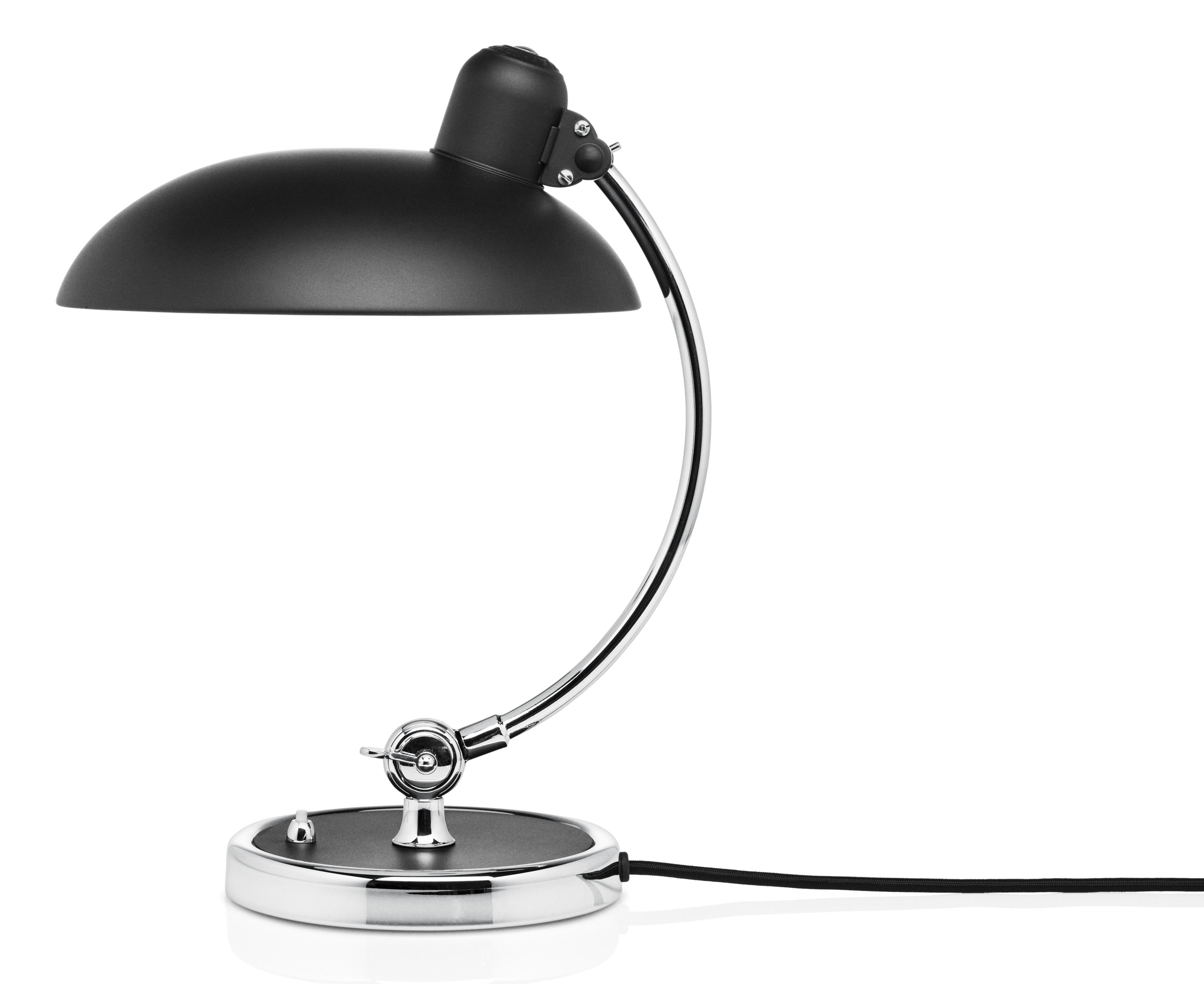 kaiser idell table lamp h 42 5 cm glossy black by fritz. Black Bedroom Furniture Sets. Home Design Ideas