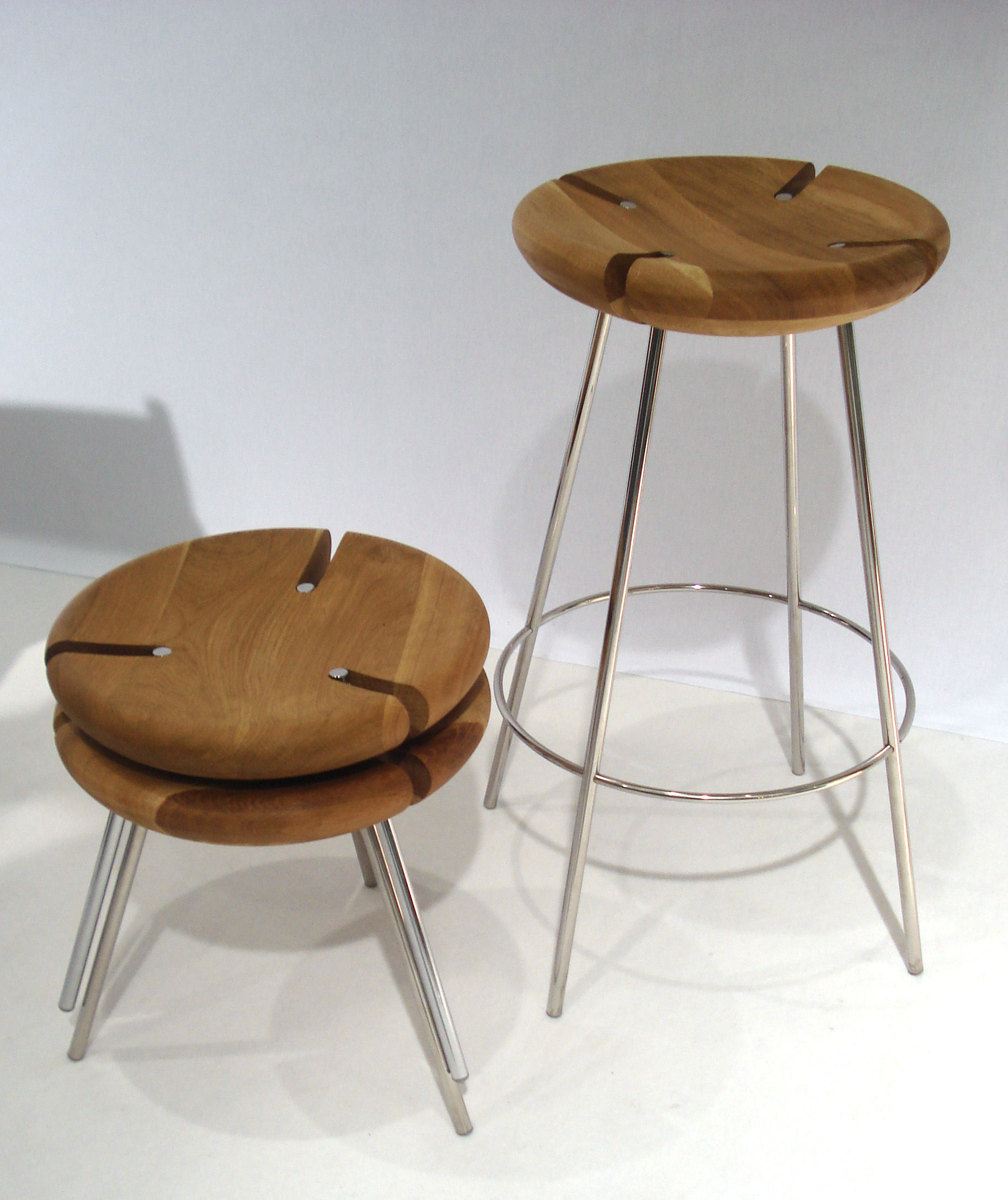 Superb img of  Bar stools > Tribo Bar stool H 76 cm Wood & metal legs by Objekto with #6D4726 color and 1827x2175 pixels
