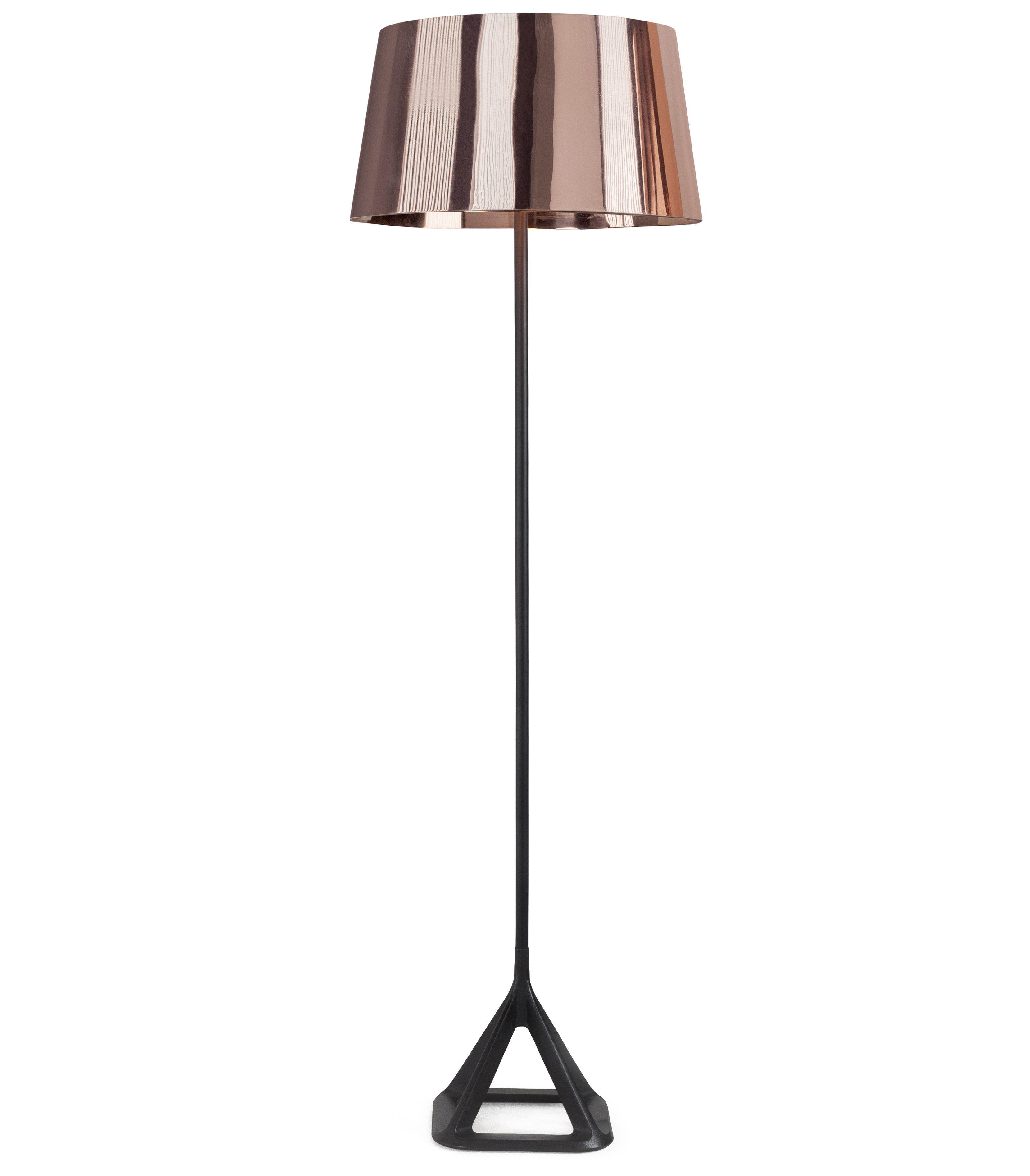 Base floor lamp copper by tom dixon for Copper floor lamp adelaide