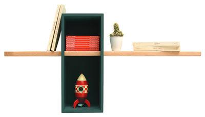 Foto Scaffale Max - /Semplice - 1 scatola + 1 scaffale di Compagnie - Verde pino - Legno