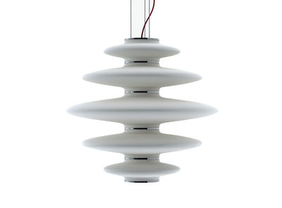 Foto Sospensione Vases - Ø 70 cm di Nemo - Bianco - Vetro