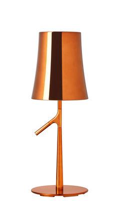 Foto Lampada da tavolo Birdie Piccola Metal - / H 49 cm di Foscarini - Rame - Metallo