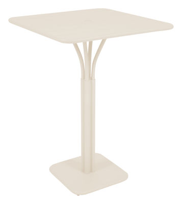 Foto Tavolo bar alto Luxembourg - 80 x 80 x A 105 cm di Fermob - Lino - Metallo