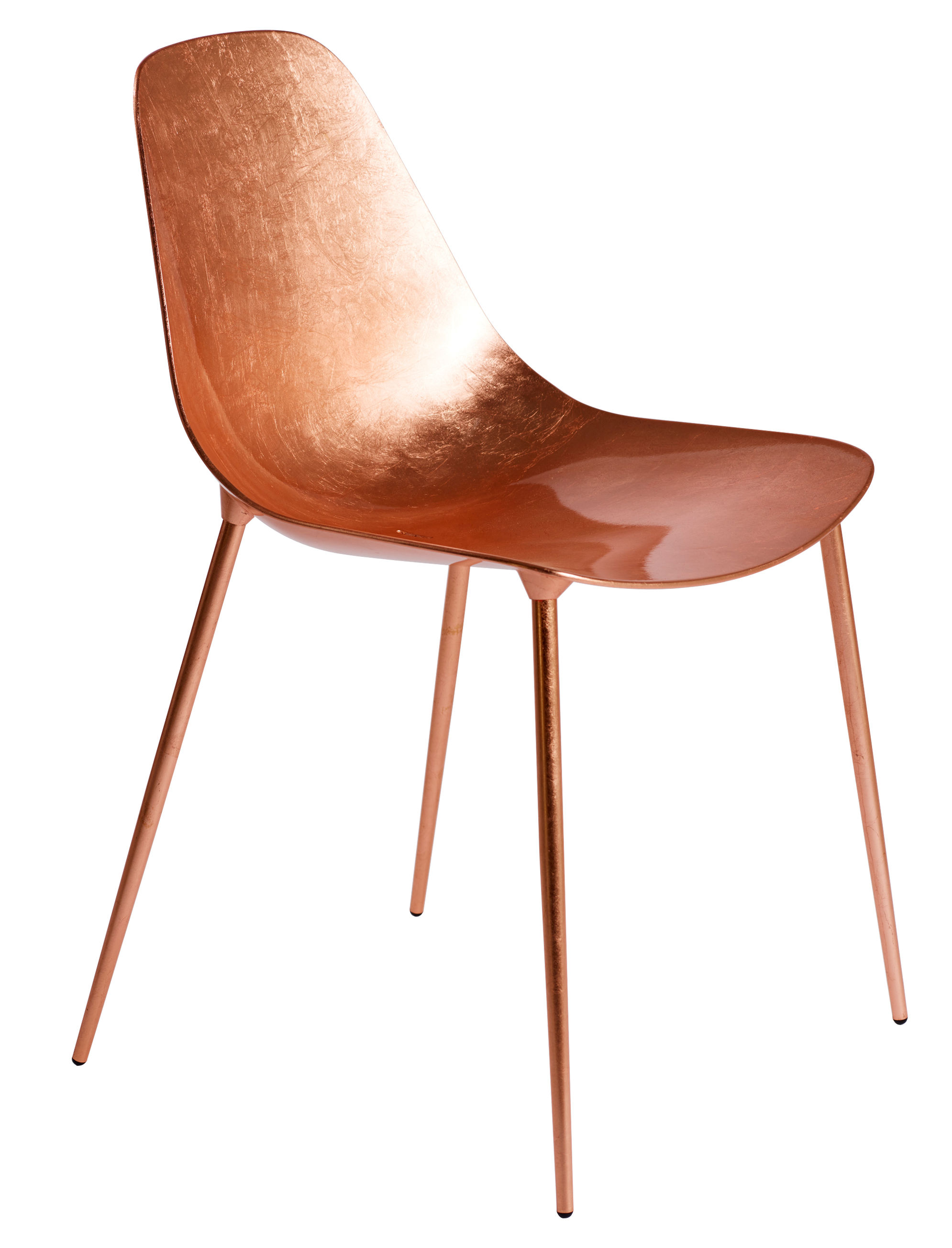 Mammamia chair metal with copper leaves copper leaf by - Chaise pied metal ...