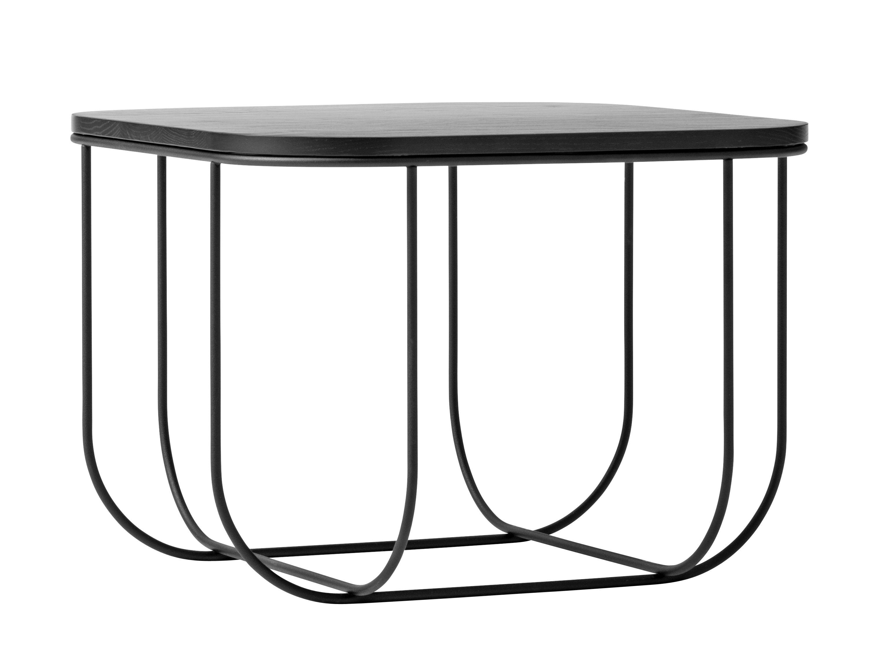 Cage Coffee table Storage H 30 cm Black by Menu