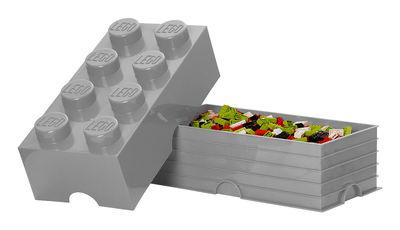 Boîte Lego® Brick / 8 plots Gris - ROOM COPENHAGEN