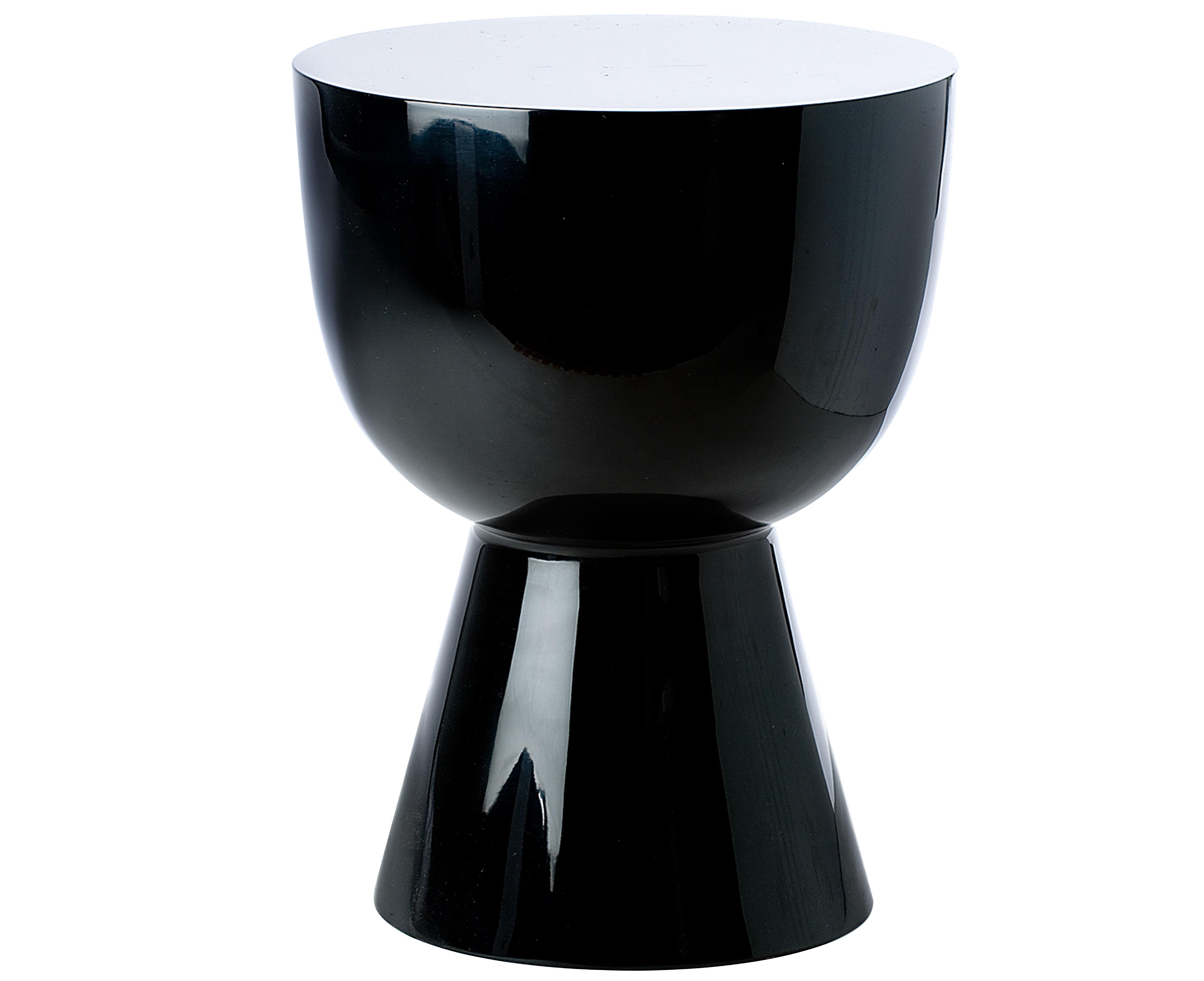 tabouret tam tam plastique noir pols potten. Black Bedroom Furniture Sets. Home Design Ideas