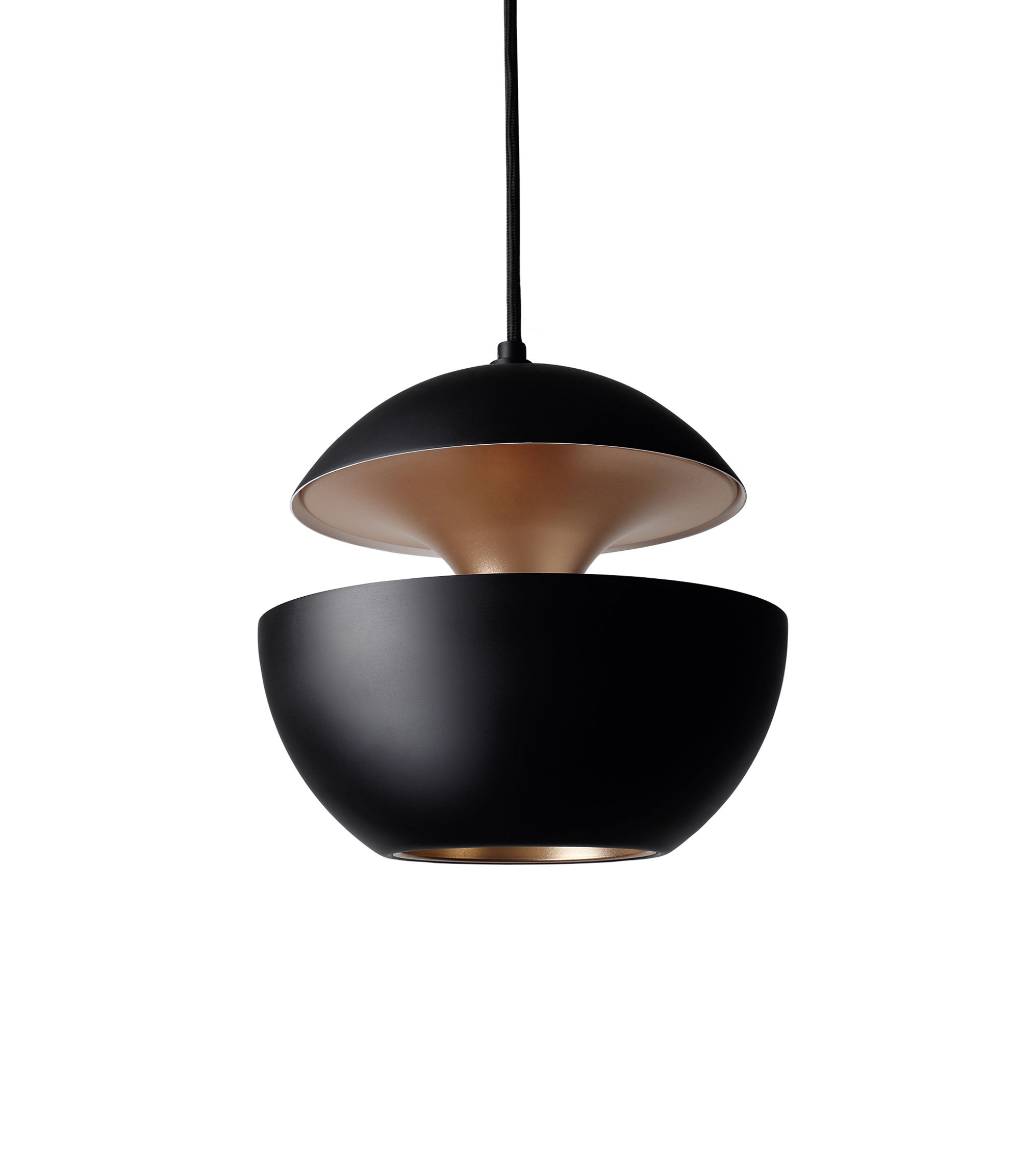 Here comes the sun pendant 25 cm 1970 reissue black copper inside by - Lampe made in design ...