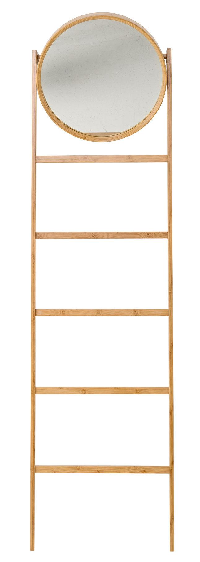 Miroir sur pied bamboo porte serviettes h 170 cm for Miroir sur pied 50 cm