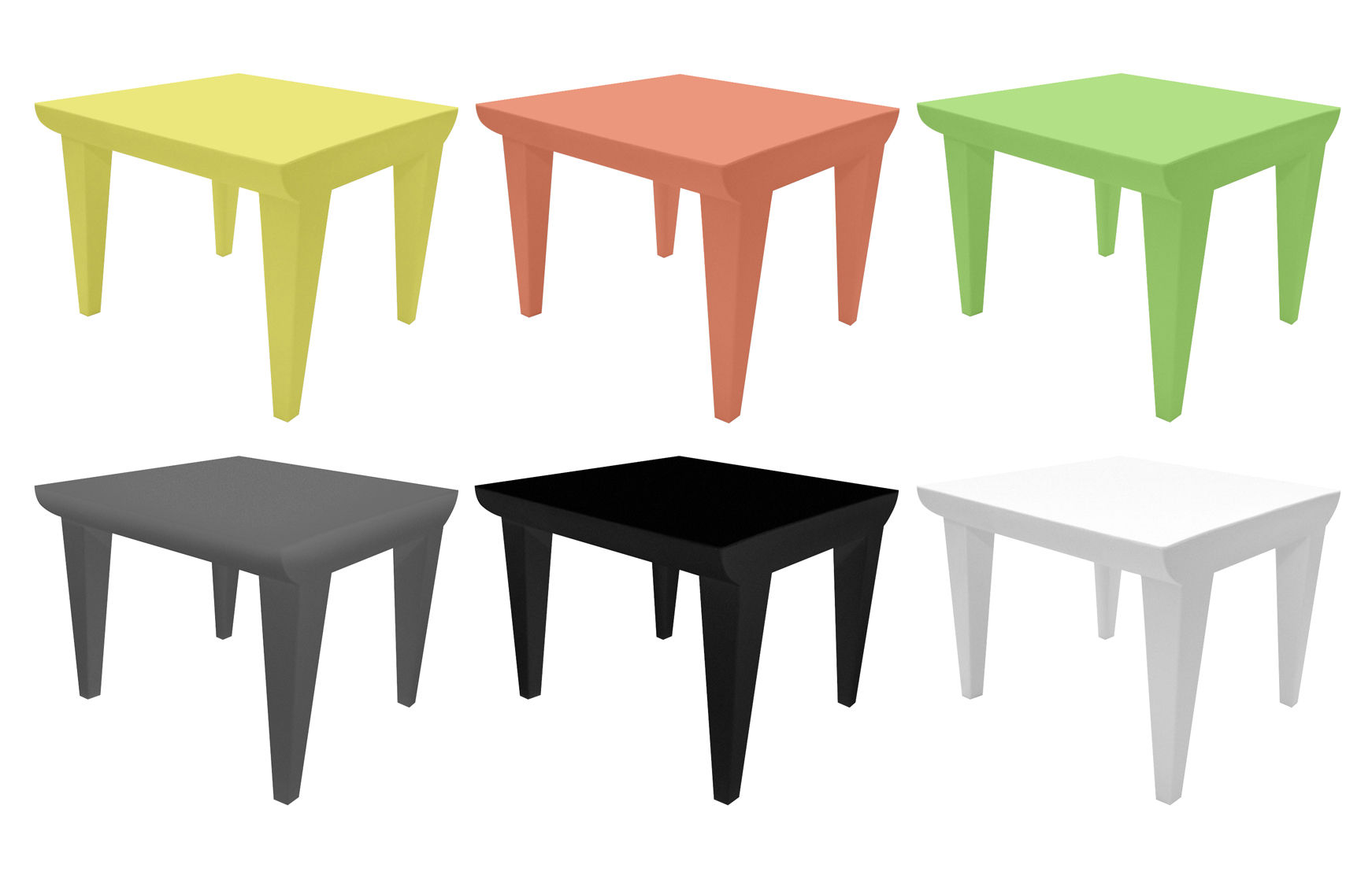 Table Basse Bubble Club Gris Clair Kartell