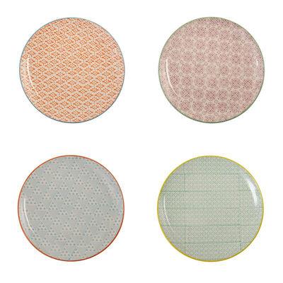Image du produit Assiette à dessert Happy P. / Set de 4 - Ø 20 cm - & klevering Multicolore en Céramique