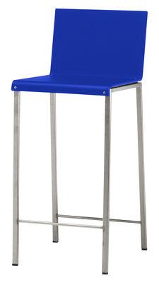 Foto Sedia da bar Bianco - Tinta opaca di Zeus - Acciaio,Blu opaco - Metallo