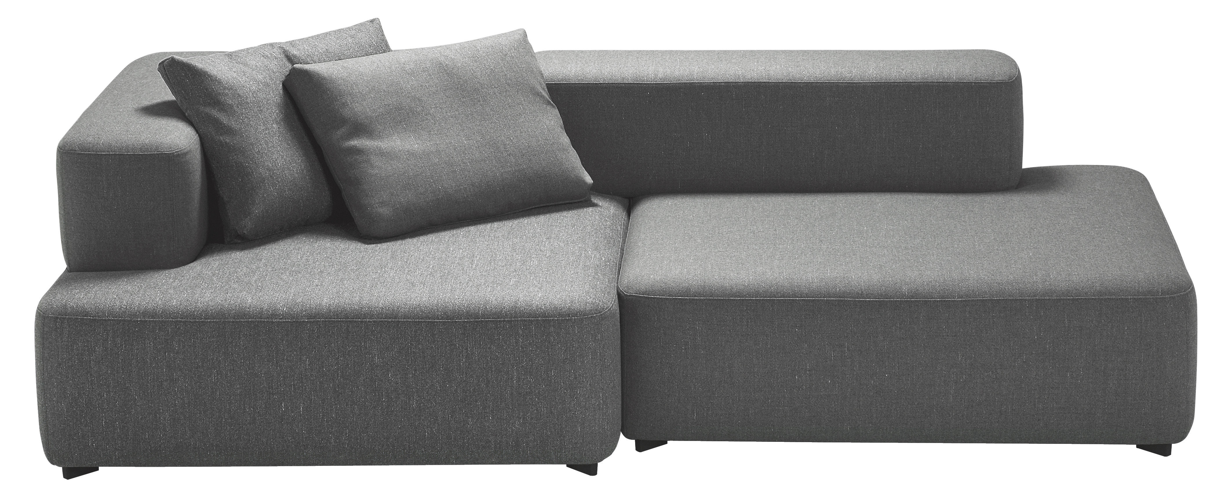 Alphabet sofa modular 2 seats l 210 x d 120 cm dark for Sofa 75 cm tief