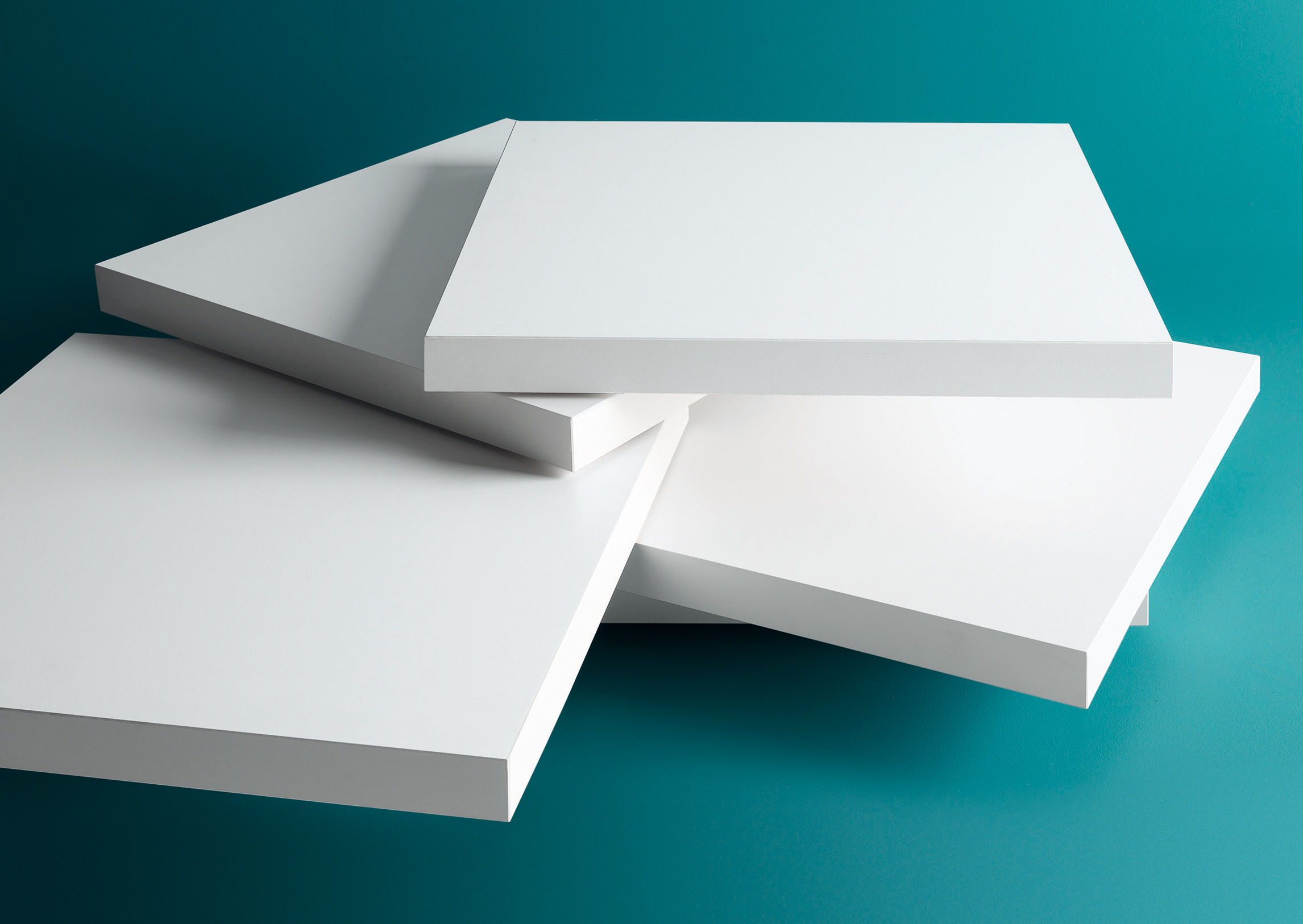 Table basse rotor / plateaux pivotants blanc   kristalia