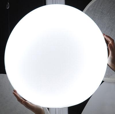 Foto Mobile Shiny Shadow Nimbo - luminoso - Ø 56 cm di Smarin - Bianco - Tessuto