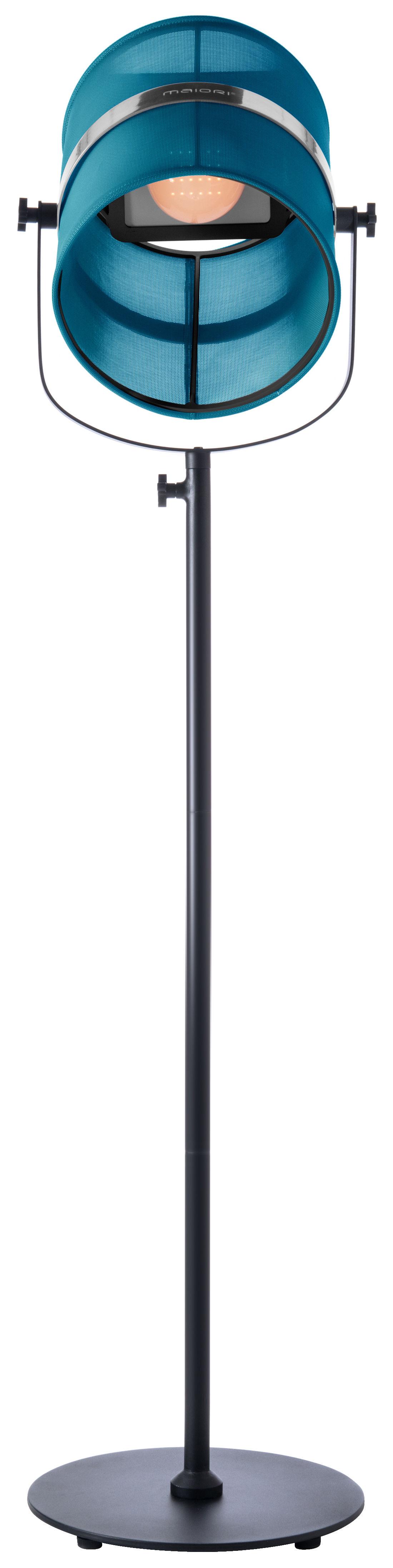 lampadaire solaire la lampe paris led sans fil turquoise pied noir maiori. Black Bedroom Furniture Sets. Home Design Ideas