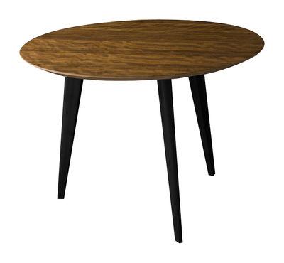 table basse lalinde large 55cm pieds noirs teck pieds noirs sentou edition. Black Bedroom Furniture Sets. Home Design Ideas