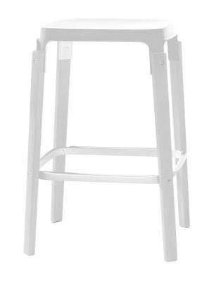 Foto Sgabello bar Steelwood - h 68 cm di Magis - Bianco - Metallo