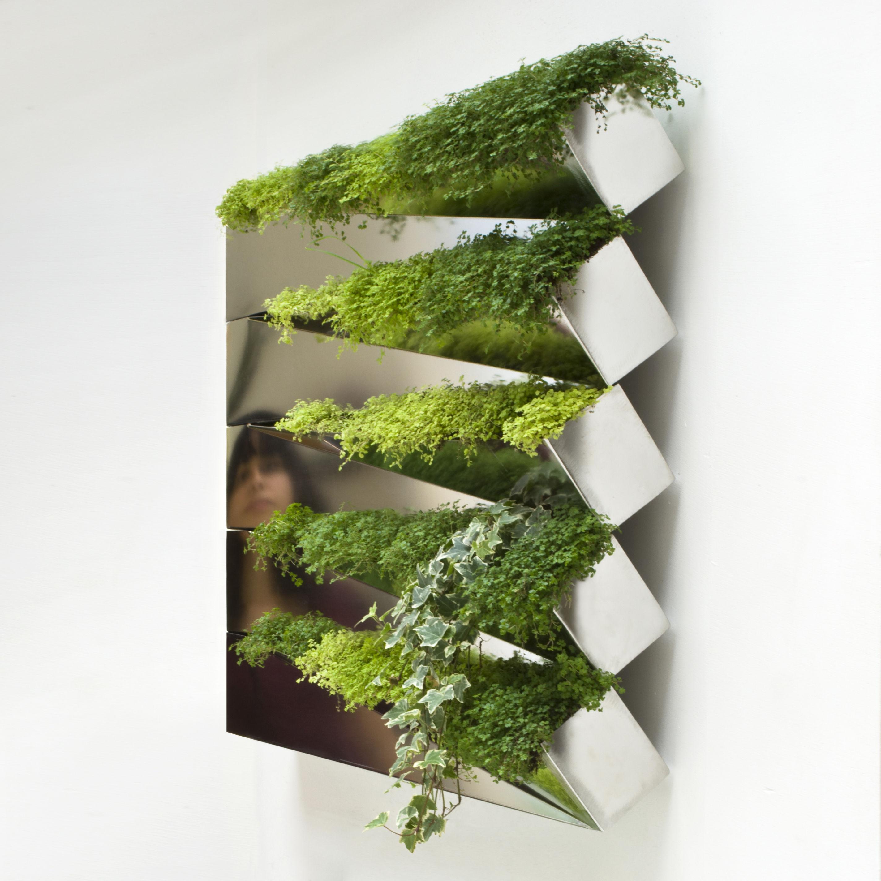 miroir en herbe f r die wand compagnie blumenkasten. Black Bedroom Furniture Sets. Home Design Ideas