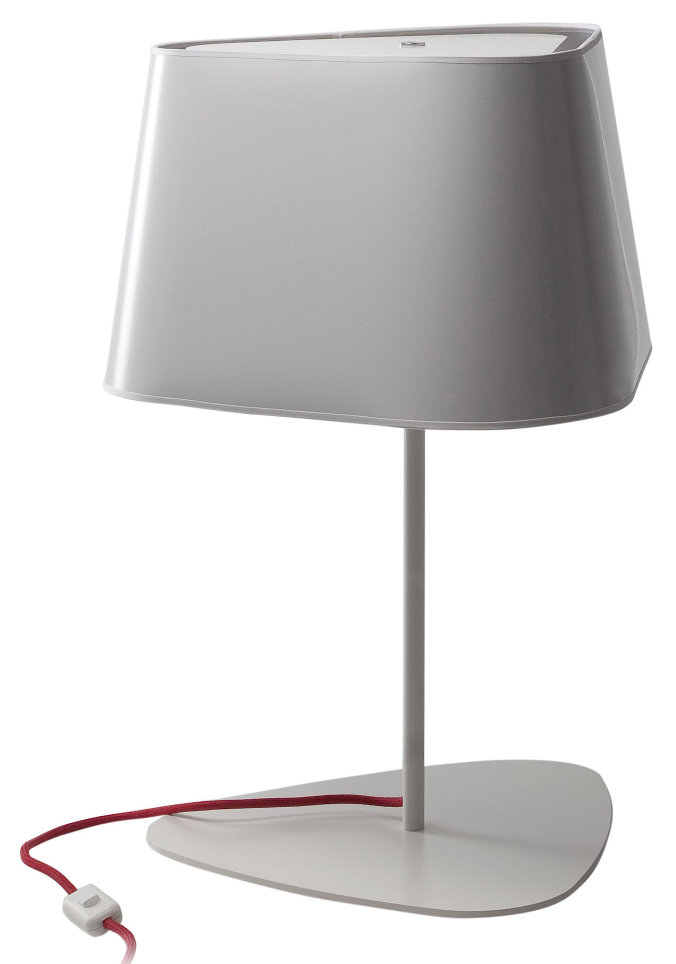 Grand nuage table lamp lacquered white silver interior for Design table lamp giffy 17 7